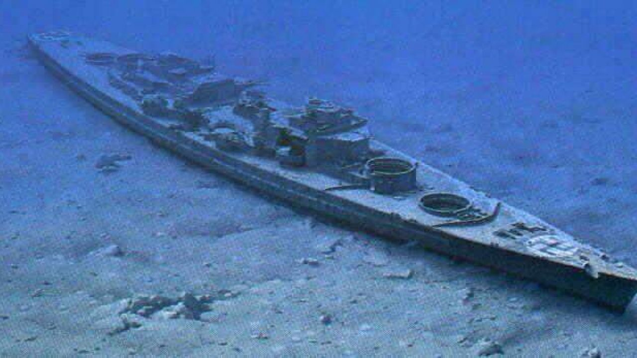 Restos del buque Bismark